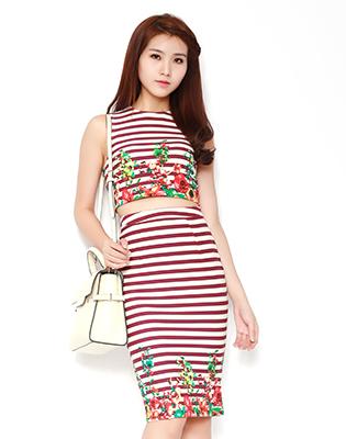 Set Croptop Và Chân Váy Form Ôm tại Hồ Chí Minh