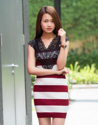 Đầm Len Cổ Tim Phối Ren Gợi Cảm tại Hồ Chí Minh