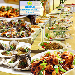 Buffet Trưa Hải Sản Tại Oscar Saigon Hotel 4*