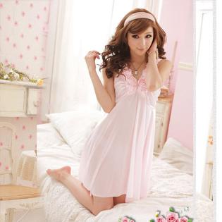 Đầm Ngủ Đính Hoa Hồng
