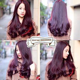 Uốn/ Duỗi/ Nhuộm/ Bấm Xù+Cắt+Gội+Sấy+Hấp Dầu Tại Vinh Hair Salon