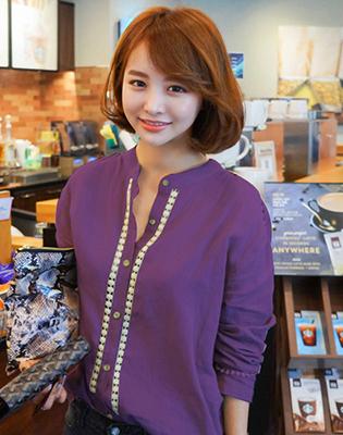 Áo Linen Cổ Trụ Phối Ren tại Hồ Chí Minh