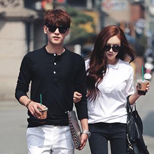 Áo Thun Nam/Nữ Couple Hàn Quốc Dễ Thương