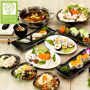 Set Sushi / Lẩu Nhật Tại Manga Sushi tại Hồ Chí Minh