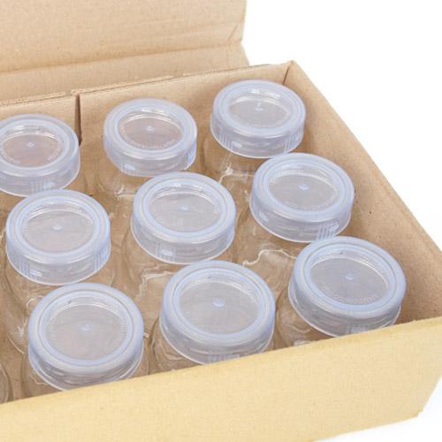Combo 12 Hũ Làm Sữa Chua Nắp Nhựa Vặn
