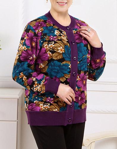 Áo Khoác Cardigan Hoa Hồng Jenny