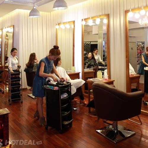 Cắt + Gội + Sấy + Hấp Dầu Bằng Moroccanoil - Total Hair Salon La Beaute