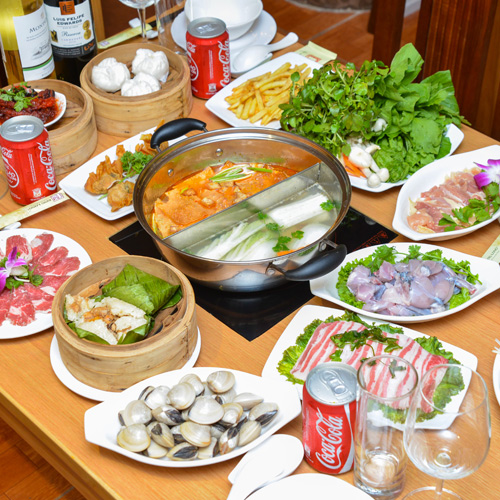 Buffet lẩu Hong Kong tại NH King Long - Free coca - không phụ thu