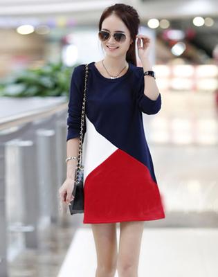 Váy Ôm Thanh Lịch Phối Màu