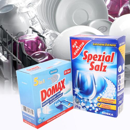 Bộ 1 Hộp Muối Rửa Bát + 1 Hộp Viên Rửa Bát Nhập Khẩu Đức