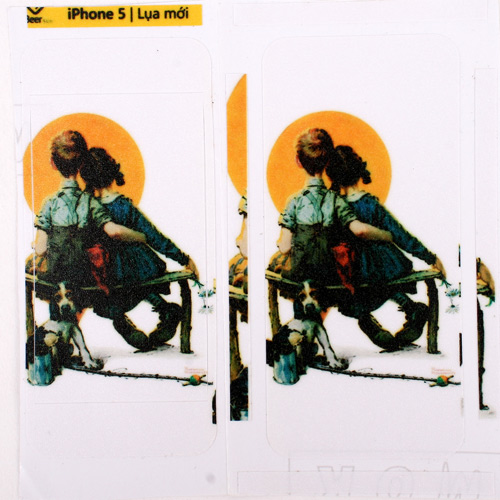 COMBO 2 MIẾNG DÁN SKIN IPHONE 5,5S CHẤT LIỆU LỤA CAO CẤP