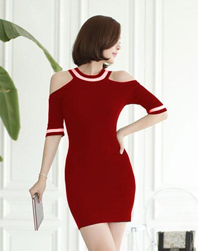 Đầm Cổ Yếm Body Cách Điệu