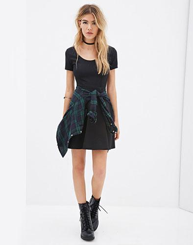 Đầm Xòe Trẻ Trung Xuất Khẩu