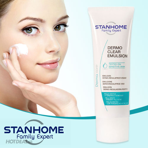 Dermo Clear Emulsion - Kem Kiềm Dầu Và Ngừa Mụn Cho Da Hỗn Hợp