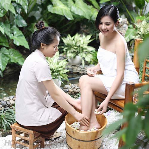 Ngâm Chân + Masage Body Tinh Dầu + Đắp Mặt Nạ Sáng Da Tại Garden Spa