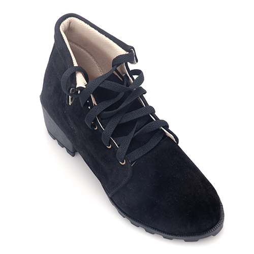 Giày Cổ Cao Khải Nam Màu Nhung Đen – BH 6 Tháng