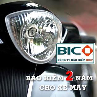 Phiếu Bảo Hiểm BIDV Bắt Buộc Và Tự Nguyện 2 Năm Cho Xe Máy tại Hồ Chí Minh