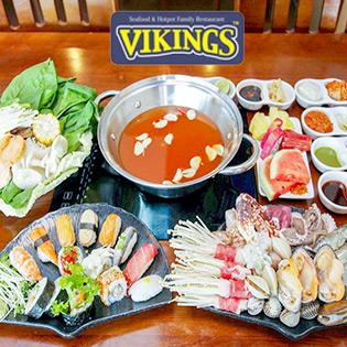 Combo HotPot + Sushi + Free Trái Cây,Nước Ngọt, Khăn Cho 4 Người tại Hồ Chí Minh