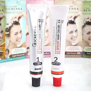 Thuốc Nhuộm Tóc Phủ Bạc Dạng Gội - Richenna Hàn Quốc EZ Speedy Hair Color-EX