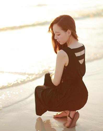 Hè Sang Với Váy Maxi Đi Biển