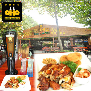 Combo Tháp Bia/Mocktail + 1/2 Gà Quay + Xôi Chiên  Cho 2-4 Người Tại Doho Beer Garden