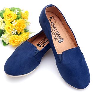 Giày Lười Nữ Khải Nam Màu Xanh Đen