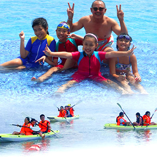 Gói Dịch Vụ Hồ Bơi Đập Tràn & Chèo Thuyền Kayak - Khu Du Lịch The BCR