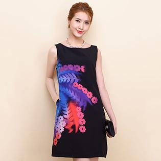 Đầm Suông Họa Tiết 4D- BST Hè