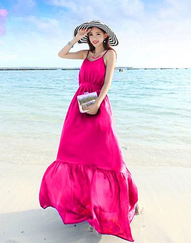 Đầm Maxi Đuôi Cá Bãi Biển
