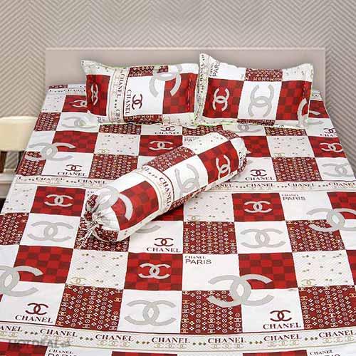 Bộ Drap Cotton Vải Thắng Lợi Họa Tiết Hoa Trang Nhã