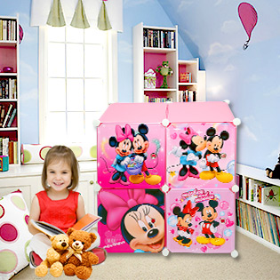 Tủ Tự Lắp Ráp 4 Ngăn Mickey