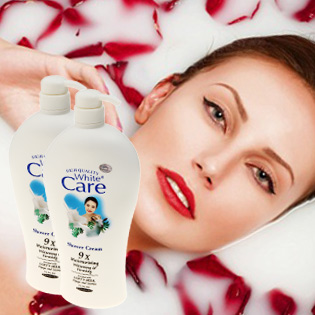 Combo 2 Chai Sữa Tắm Whisper Cream 1200ml/Chai + 1 Bông Tắm