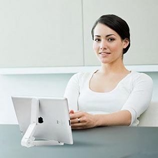 Combo Giá Đỡ Dành Cho iPad, Tablets + Bút Cảm Ứng + Bộ Dán 6 Nút Home