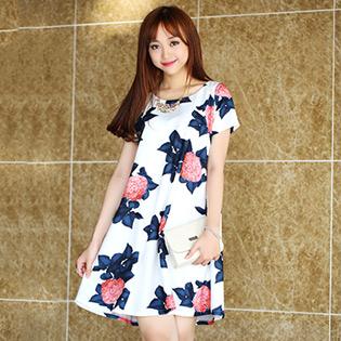Đầm Oversize Hoa Cẩm Tú Cầu