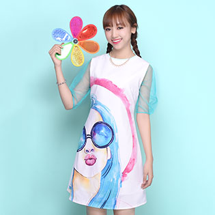 Đầm In Color Girl Summer – BST Hè