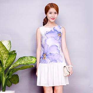 Đầm In Hoa Sang Trọng – BST Hè