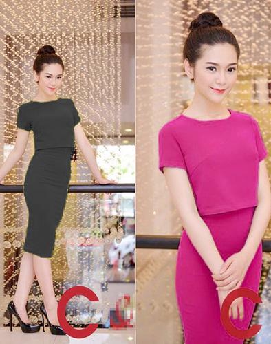 Set Áo Váy Croptop Điệu Đà