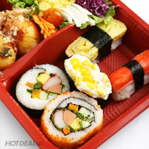 1 Trong 4 Set Sushi, Cơm Và 1 Ly Pepsi - Hệ Thống Xiên Que