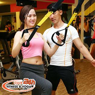 4 Tuần Tập Gym Không Giới Hạn Tại Club 24h Fitness & Yoga