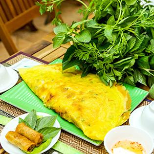 Set Tri Ân Khách Hàng: 1 Bánh Xèo + 2 Chả Giò - Bánh Xèo Bà Hai