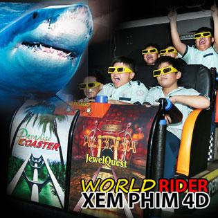 02 Vé Xem Phim 4D Tại World Rider Hùng Vương Square