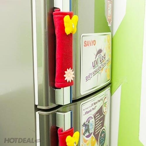 Combo 2 Tay Nắm + 1 Khăn Phủ Tủ Lạnh