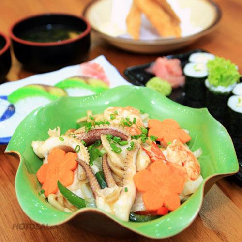 Set Ăn Các Món Nhật Hấp Dẫn Dành Cho 2 Người Tại Sushi Nobita