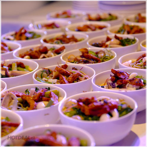 Buffet Chay Tối 60 Món Tại Claris Palace - Mua 5 Tặng 1