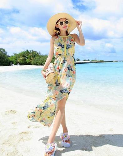 Đầm Maxi Hoa Slit