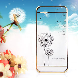 Ốp Trong Cao Cấp Có Viền Bồ Công Anh Cho iPhone 5/5S
