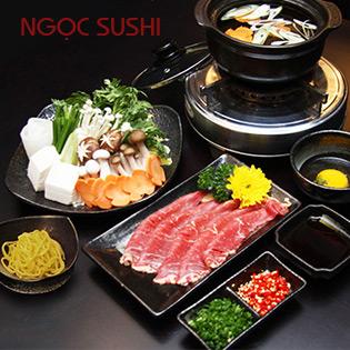 Lẩu Bò Mỹ/Lẩu Kim Chi Hải Sản Tại Ngọc Sushi