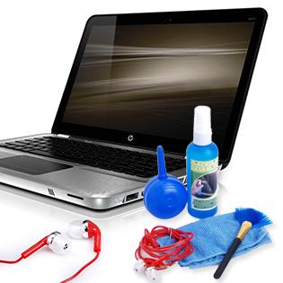 Bộ Dụng Cụ Vệ Sinh Laptop + Tai Nghe Thời Trang