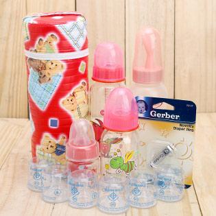 Combo 6 Ty Sữa+1 Kềm Cắt + 4 Bình Sữa, Ăn Bột + 1 Hộp Ủ Ấm Bình Cho Bé