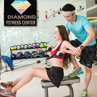 04 Tuần Tập Thể Dục Tại Diamond Fitness Center - Không Giới Hạn Buổi Tập